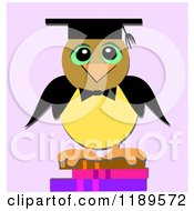 Graduate Owl On Books