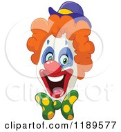 Cartoon Of An Enthusiastic Happy Clown Face Royalty Free Vector Clipart
