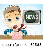 Shocked Screaming News Anchor Man