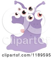 Cartoon Of A Google Eyed Monster Royalty Free Vector Illustration by lineartestpilot