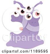Cartoon Of A Google Eyed Monster Royalty Free Vector Illustration