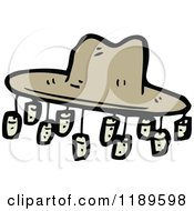 Cartoon Of An Australian Cork Hat Royalty Free Vector Illustration by lineartestpilot