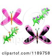 Butterfly And Flower Design Elements 2