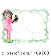 Girl And Bird Frame With Branches