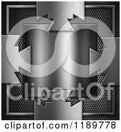 Clipart Of A 3d Metal Plaque Over Perforations Royalty Free CGI Illustration