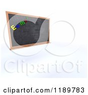 Clipart Of A 3d Physics Class Black Board Royalty Free CGI Illustration by KJ Pargeter