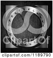 Clipart Of A 3d Metal Rivet Ring Over Concrete Royalty Free CGI Illustration
