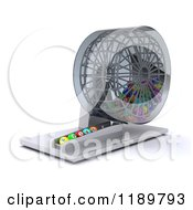 Clipart Of A 3d Bingo Ball Dispenser Royalty Free CGI Illustration by KJ Pargeter