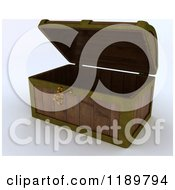 Clipart Of A 3d Skeleton Key In An Open Wooden Chest Royalty Free CGI Illustration by KJ Pargeter