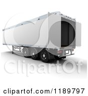 Clipart Of A 3d Open HGV Freight Trailer Royalty Free CGI Illustration