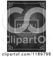 Black Slate Chalkboard Menu Design With A White Border 2