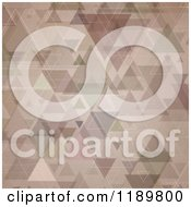 Clipart Of A Retro Grungy Trigle Background Royalty Free Vector Illustration