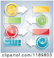 Clipart Of Colorful Numbered Infographics Layouts With Sample Text 2 Royalty Free Vector Illustration by KJ Pargeter