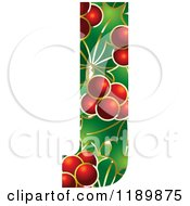 Clipart Of A Christmas Holly And Berry Capital Letter J Royalty Free Vector Illustration by Lal Perera
