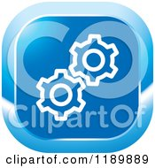 Clipart Of A Blue Gear Settings Icon Royalty Free Vector Illustration