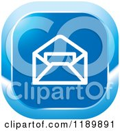 Clipart Of A Blue Mail Icon Royalty Free Vector Illustration