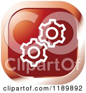 Clipart Of A Red Gear Settings Icon Royalty Free Vector Illustration