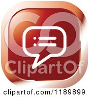 Clipart Of A Red Topic Chat Balloon Icon Royalty Free Vector Illustration