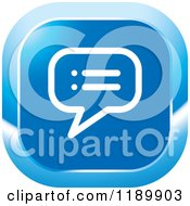 Clipart Of A Blue Topic Chat Balloon Icon Royalty Free Vector Illustration