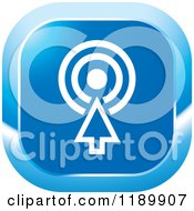 Clipart Of A Blue Target Icon Royalty Free Vector Illustration by Lal Perera