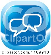 Clipart Of A Blue Chat Balloon Icon Royalty Free Vector Illustration