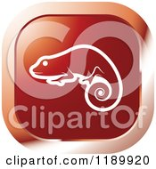 Clipart Of A Red Chameleon Lizard Icon Royalty Free Vector Illustration