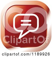 Clipart Of A Red News Icon Royalty Free Vector Illustration