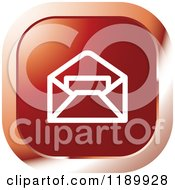 Clipart Of A Red Mail Icon Royalty Free Vector Illustration