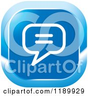 Clipart Of A Blue News Icon Royalty Free Vector Illustration