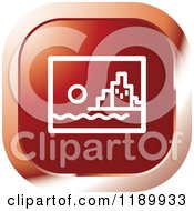 Clipart Of A Red City Icon Royalty Free Vector Illustration by Lal Perera