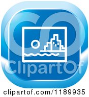 Clipart Of A Blue City Icon Royalty Free Vector Illustration by Lal Perera