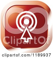 Clipart Of A Red Target Icon Royalty Free Vector Illustration by Lal Perera