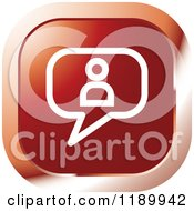 Clipart Of A Red Contact Chat Balloon Icon Royalty Free Vector Illustration