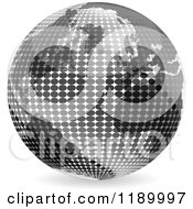 Clipart Of A Grayscale Halftone Globe Royalty Free Vector Illustration