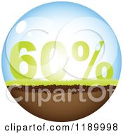 Clipart Of A 60 Percent Off Globe Royalty Free Vector Illustration by Andrei Marincas
