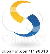 Clipart Of An Abstract Letter S In Blue And Yellow Royalty Free Vector Illustration by cidepix