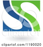 Clipart Of An Abstract Letter S In Blue And Green Royalty Free Vector Illustration by cidepix