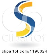 Clipart Of An Abstract Letter S In Blue And Yellow 2 Royalty Free Vector Illustration by cidepix