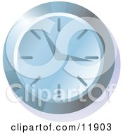 Blue Wall Clock Clipart Picture