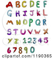 Cartoon Of An Alphabet Made Of Pencils Royalty Free Vector Illustration