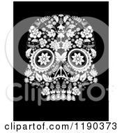 Clip Art Of A Day Of The Dead Skull Royalty Free Vector Illustration by lineartestpilot