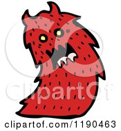 Cartoon Of A Red Monster Royalty Free Vector Illustration
