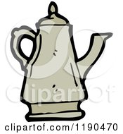 Cartoon Of A Coffee Pot Royalty Free Vector Illustration by lineartestpilot