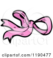 Cartoon Of A Pink Bow Royalty Free Vector Illustration