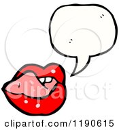 Cartoon Of Red Lips Speaking Royalty Free Vector Illustration