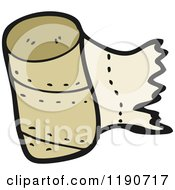 Cartoon Of A Roll Of Paper Towels Royalty Free Vector Illustration by lineartestpilot