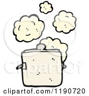 Cartoon Of A Steaming Pot Royalty Free Vector Illustration