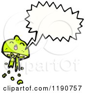 Cartoon Of A Lime Character Speaking Royalty Free Vector Illustration by lineartestpilot