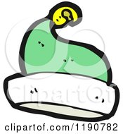 Cartoon Of An Elfs Hat Royalty Free Vector Illustration by lineartestpilot