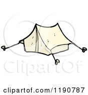 Cartoon Of A Camping Tent Royalty Free Vector Illustration by lineartestpilot